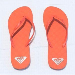 Roxy salmon orange pink flip flop sandals
